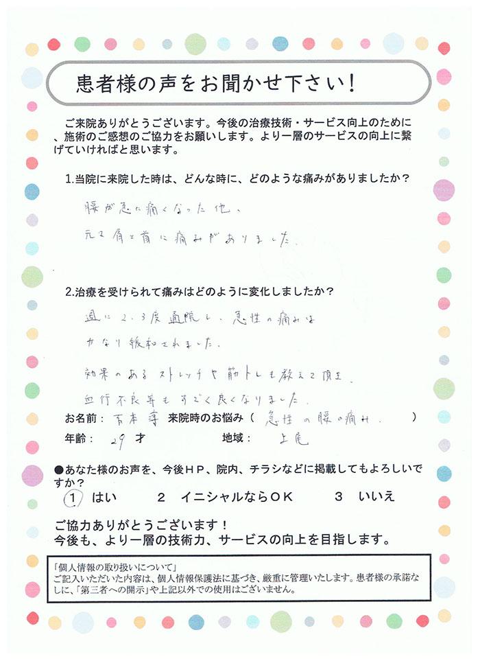 吉本 淳様 29歳 上尾