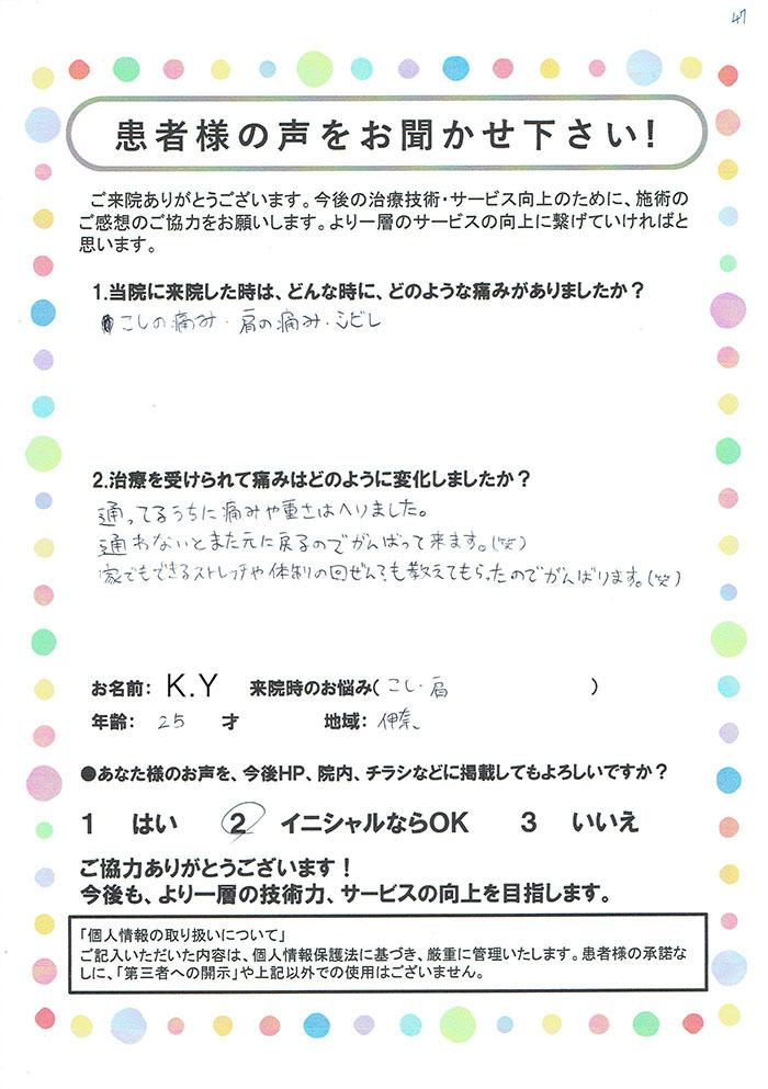 K.Y様 25歳 伊奈