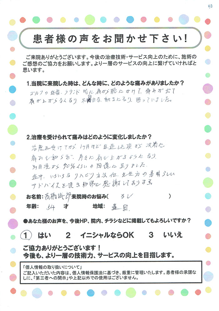 高橋 誠一郎様 54歳 蓮田